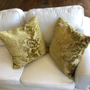 Z Gallerie Soft Velour Throw Pillow Set of Two